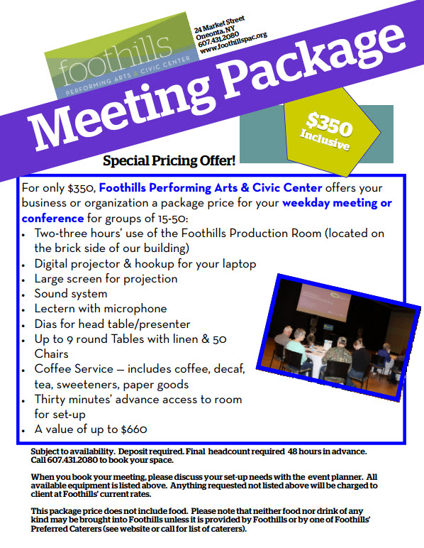 Foothills-Meeting-Package-Info