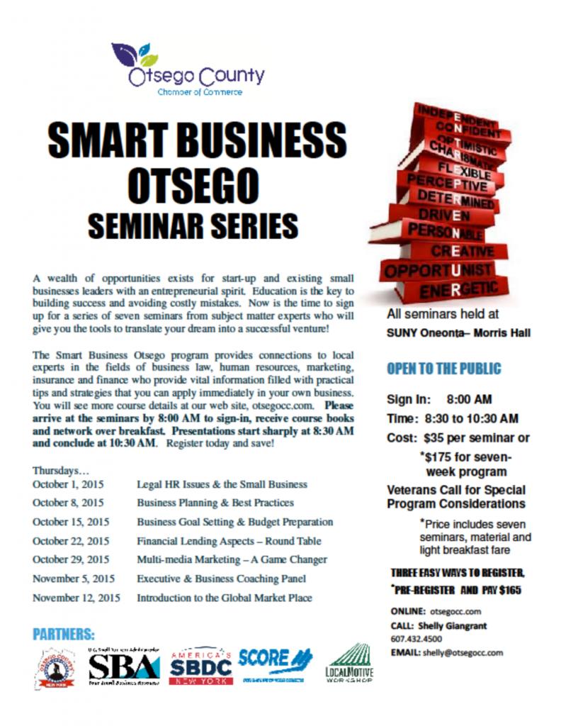 seminar series flyer
