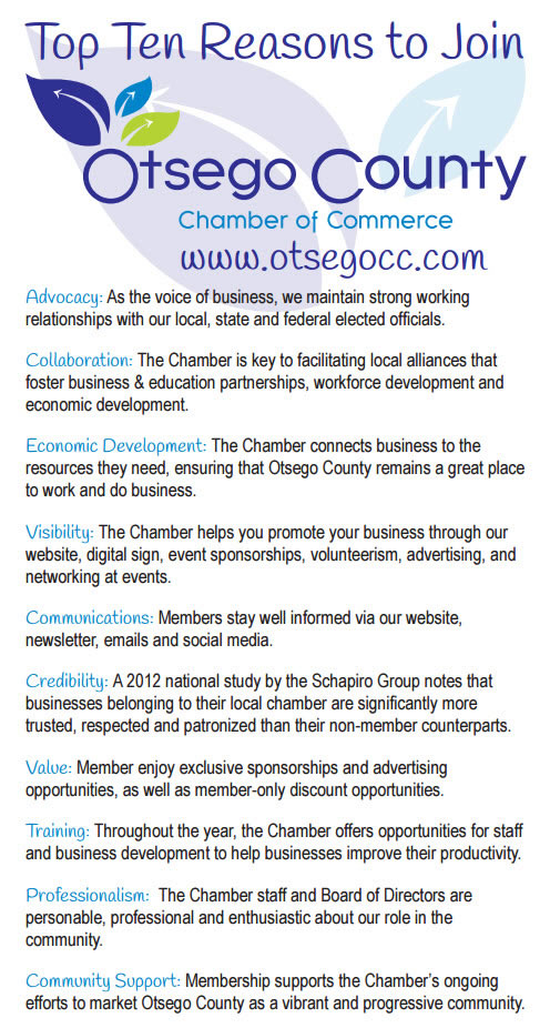 Top Ten Reasons to Join the Chamber