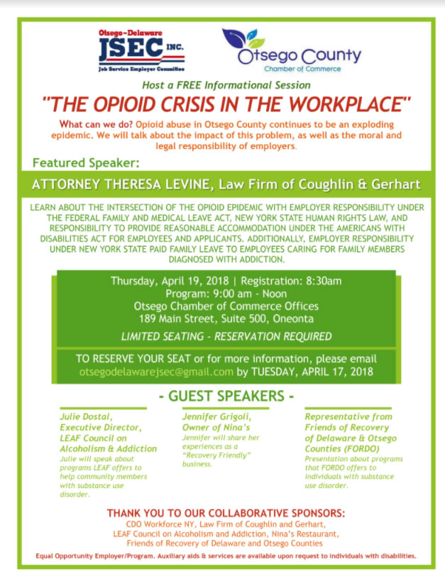 The Opioids Crisis in the Workplace