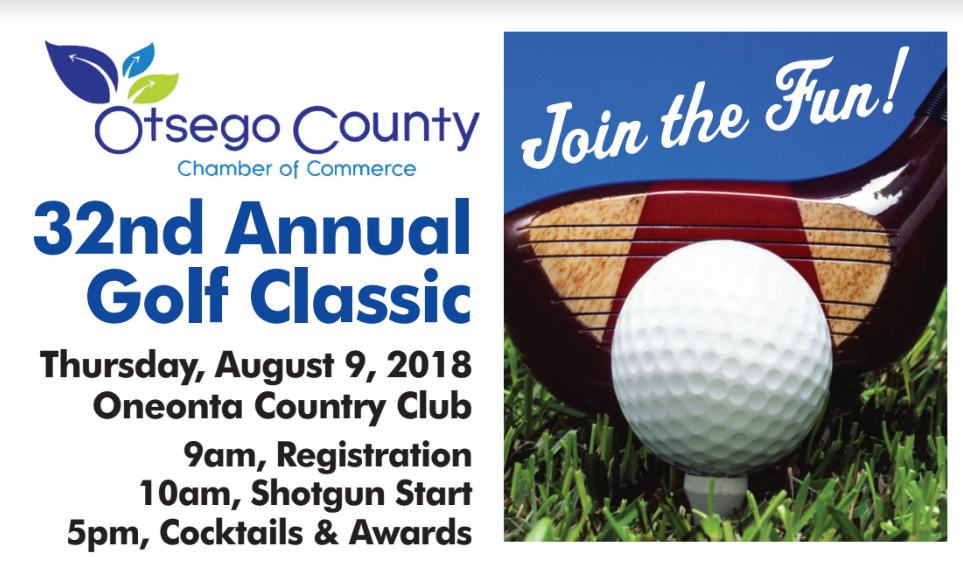 Join Us at the 32 Annual Otsego County Chamber Golf Classic