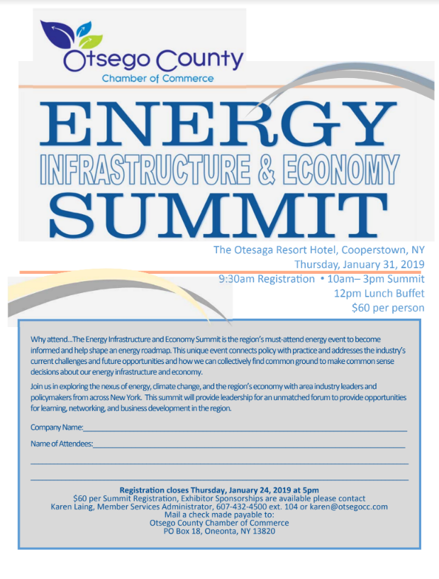 Otsego County Chamber Energy Infrastructure & Economy Summit