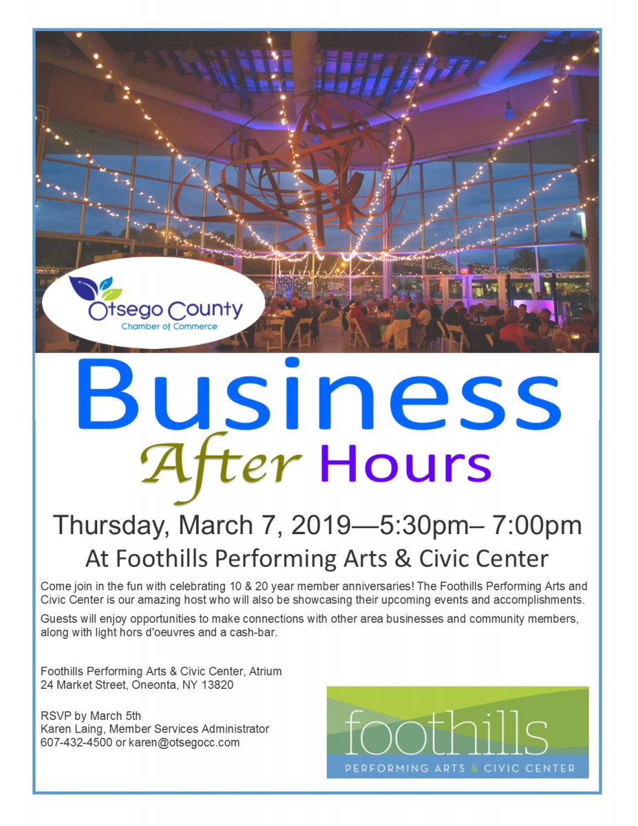 Join Us for Business After Hours and Member Anniversaries Celebration