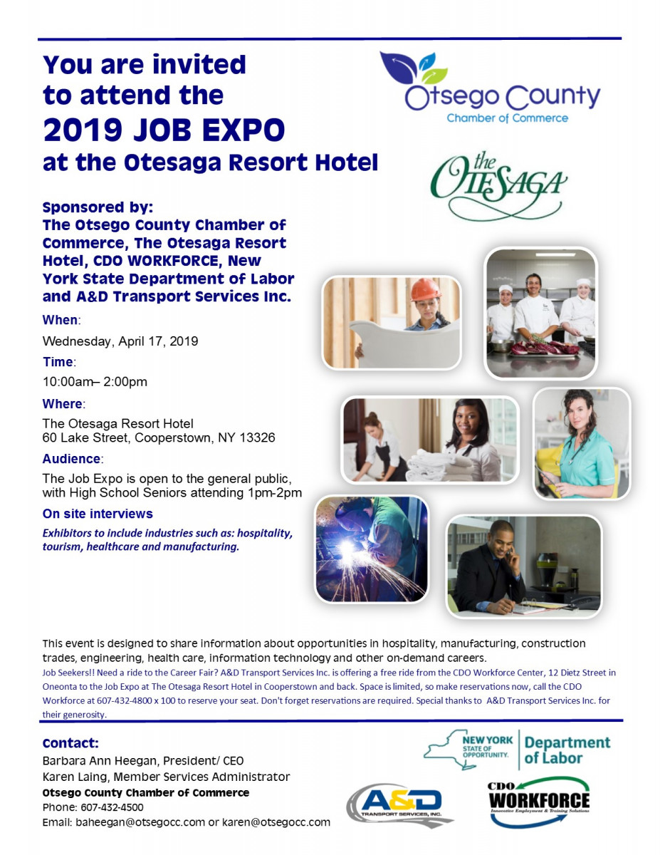 2019 Job Expo at the Otesaga Resort Hotel