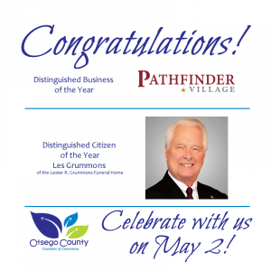 Otsego County Chamber of Commerce Distinguished Business and Citizen of Year Celebration of County's Spirit May 2