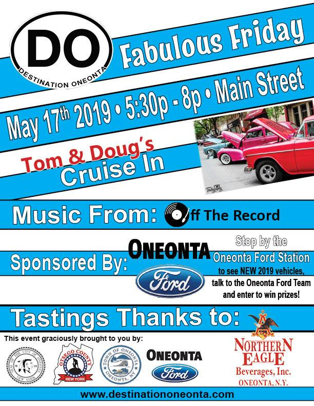Destination Oneonta Fabulous Friday, May 17, 2019-Otsego County Chamber Member News