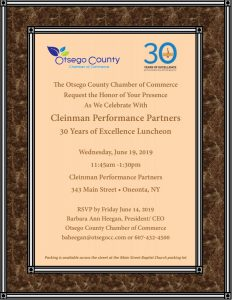 Join us this Friday June 7, 2019 for Strategies to become a Successful Leader/Otsego County Chamber Weekly Update