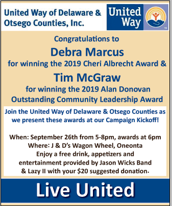 Fwd: [Enews] United Way of Delaware & Otsego Counties Campaign Kickoff! This Thursday, September 26 5:00p.m.-8:00p.m. at J & D Wagon Wheel