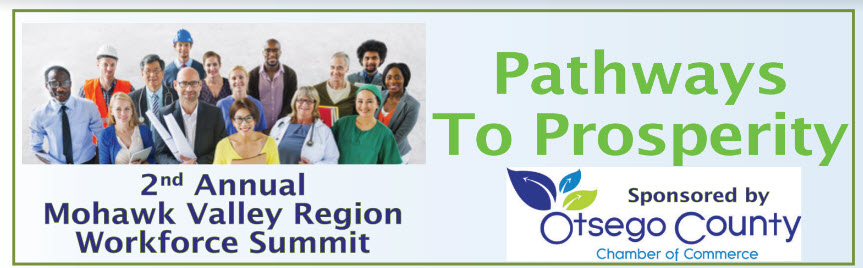 Pathways to Prosperity 2nd Annual Mohawk Valley Workforce Summit – Thursday, October 10, 2019 at SUNY Oneonta