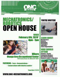 ONC BOCES Presents Mechatronics/Robotics Open House on Feb 6, 2020