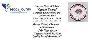 Otsego County Chamber to Host Career Spark Day and Job Fair Expo