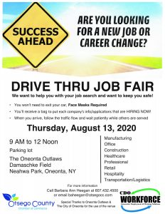 Join Us for the First Drive Thru Job Fair- Get a Job without getting out of your car!