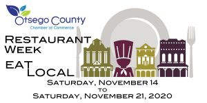 Eat Local Restaurant Week coming November 14- November 21, 2020.     If you are a Restaurant-  Register on the Events PAGE- Join the FUN!