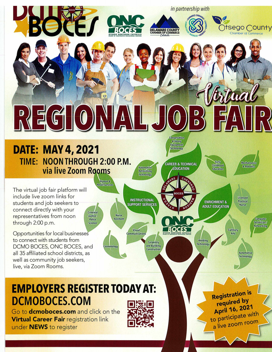 The Chamber is pleased to sponsor this Virtual Job Fair on May 4th from 12:00 noon until 2:00pm- Must register your business today!