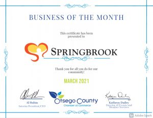 SPRINGBROOK Spotlight Member of the Month- Thank YOU!