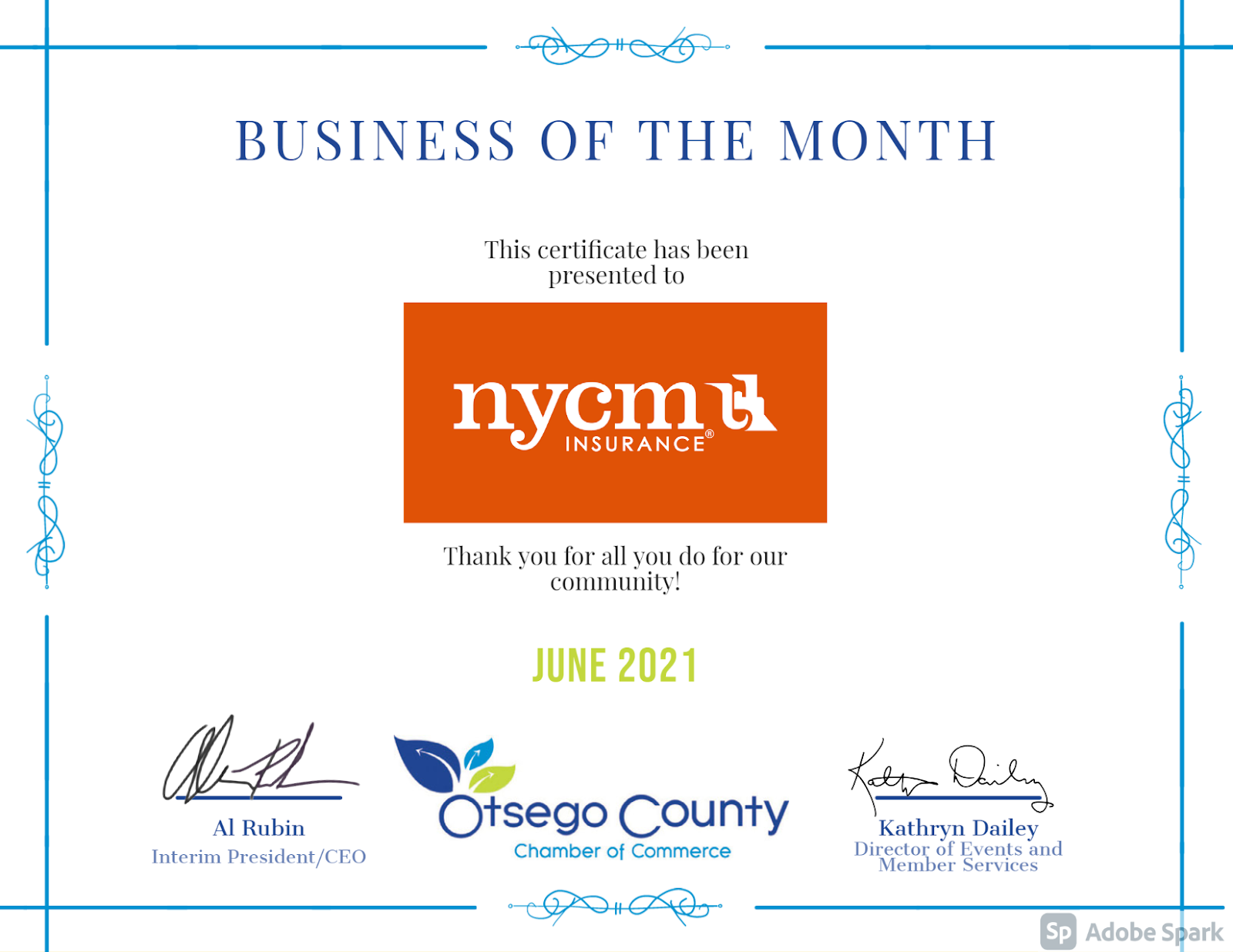 Thank you NYCM for everything you do for our community!  We appreciate you!