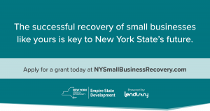 NYS Small Business Recovery Grant webinars- every Monday and Thursday at 9:30am - live via zoom. no preregistration required.